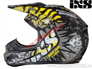 Casca enduro cross - HX261 Emotions (negru-galben mat) - IXS