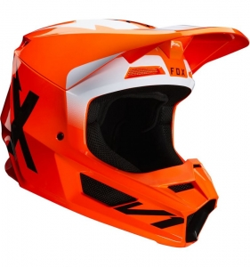 Casca Fox V1 Werd Helmet (Flo Orange) - (Fox)