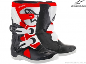 Cizme enduro / cross Tech 3S Kids (negru/alb/rosu) - Alpinestars