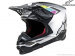 Casca enduro / cross - SM8 Contact - Ece (argintiu/negru) - Alpinestars
