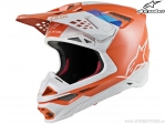 Casca enduro / cross - SM8 Contact - Ece (portocaliu/gri) - Alpinestars