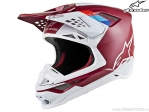 Casca enduro / cross - SM8 Contact - Ece (rosu inchis/alb) - Alpinestars