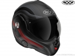 Casca moto Roof Desmo Streamline Matt Black-Red (negru-rosu mat) - Roof