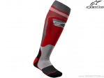 Sosete enduro / cross - Mx Plus-1 (rosu/gri) - Alpinestars