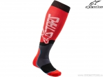 Sosete enduro / cross - Mx Plus-2 (rosu/alb/gri) - Alpinestars