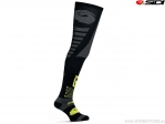 Sosete enduro / cross Sidi Extra-Long Black-Yellow Fluo (negru-galben fluo) - SIDI