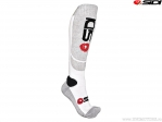 Sosete enduro / cross Sidi MX White-Grey (alb-gri) - SIDI