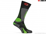 Sosete enduro / cross Sidi Tony (No. 274) Black-Grey-Green Fluo (negru-gri-verde fluo) - SIDI