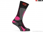 Sosete enduro / cross Sidi Tony (No. 274) Black-Grey-Pink Fluo (gri-roz fluo) - SIDI